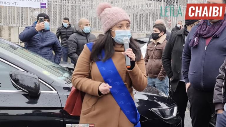 Leïla Chaibi manifestation VTC